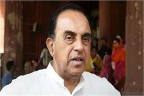 subramanian swamy reacts on shashi tharoor remark