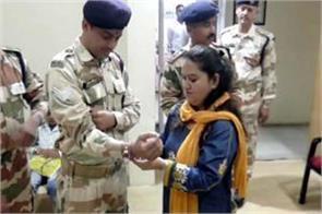 national sevika committee tied rakhi to itbp soldiers