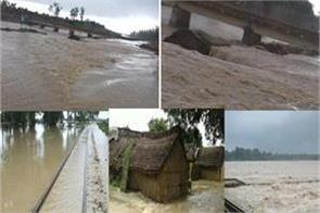 ghaghra and saryu river in bahraich 100 of villages surrounded by floods