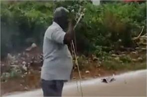 uncle burns cigarette rocket gets viral video