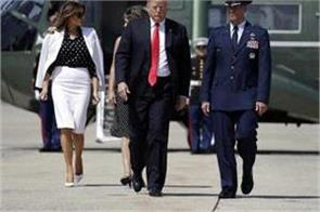wife melania is walking with the trick video viral
