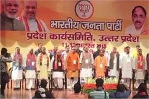 yogi spoke in working committee meeting