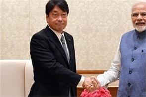 japan defense minister meets pm modi