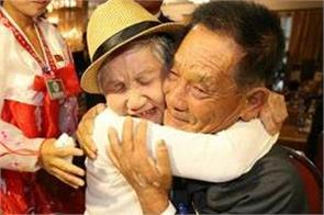 korean reunions tears as mother and son meet for first time in 68 years