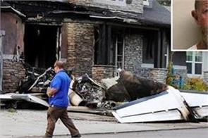 husband dies crashing plane into his own house