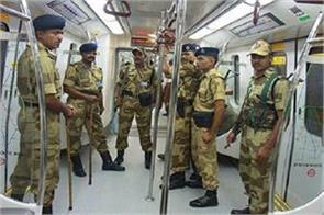 independence day security increased on delhi metro and igi