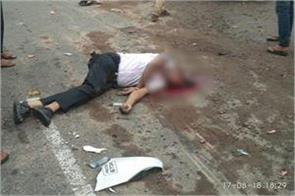 1 dead in bus auto and activa horrific collision many injured