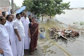 palaniswamy visited flood affected areas