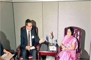 sushma bilateral talks with leaders of fiji estonia suriname