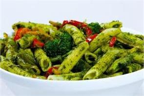 pasta with mint sauce