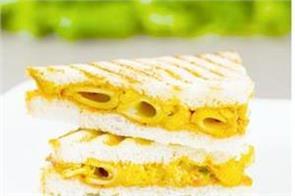 grilled pasta sandwich