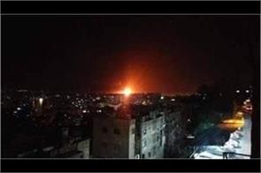 explosion in a military airport near damascus