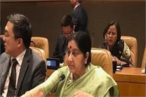 sushma swaraj will answer pak in unga