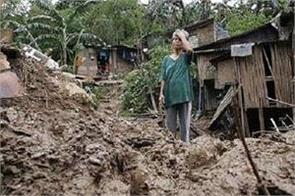 3 died in landslide ten houses grounded in philippines