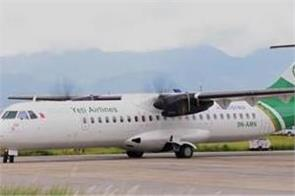 plane skids off runway in nepal airport shut for more than 11 hours