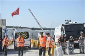 police arrest protesters from istanbul s new airport site