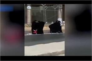 saudi five women in middle road interconnected video is viral