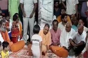 yogi celebrated shri krishna janmashtami in gorakhnath temple