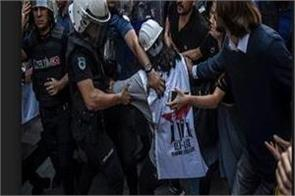 police arrest protesters at new istanbul airport site