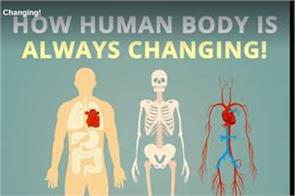 how human body is always changing