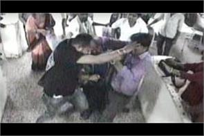 video of a scuffle occurred in doctors and busters of bhu