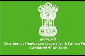 department of agriculture and farmer welfare