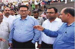 court commissioners inspected ganga ghats