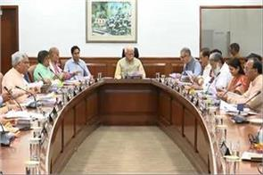 haryana cabinet chaired by chief minister manohar