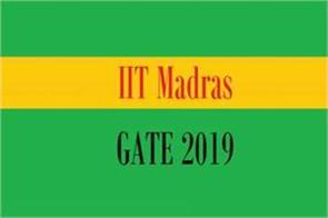 gate 2019 last date  application exam students iit