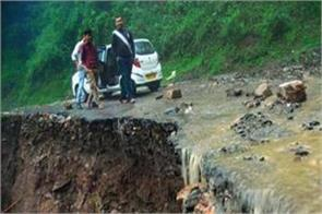 a giant lake created due to landslides in tehri district