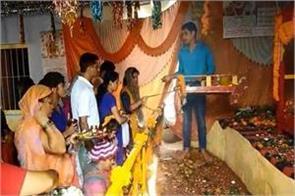 celebration of the festival at radha krishna temple on janmashtami