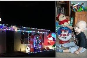 neighborhood celebrates christmas in sep for 2 year old boy