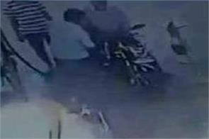 bike rider catch fire in a petrol pump