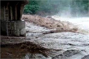 water label exceeded in ghaggar river due to heavy raining