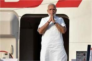 pm modi left for delhi by giving a birthday gift of rs 557 crores to varanasi