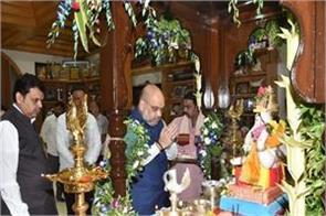 shah made the home of cm fadnavis during his visit to mumbai
