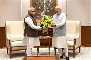 cm manohar lal khattar meets to pm narendra modi in delhi