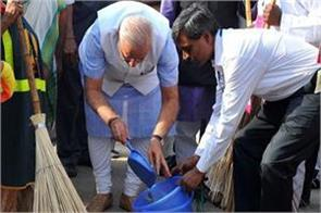 pm modi s cleanliness service campaign from today