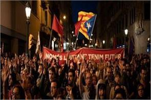 50 000 people demonstrated against the imprisonment of separatist leaders