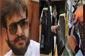 raid at delhi residence of abbas ansari many foreign weapons recovered