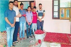 collected the diyas and will brighten the future of poor children
