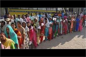 59 percent voting in panchkula and 70 percent in kalka