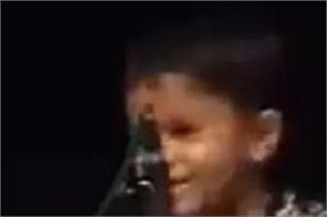 social media baby child plays tabla sing