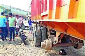 father s tragic death due to truck collision on highway son seriously injured