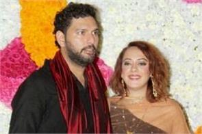 hazel keech attend diwali party with hubby yuvraj singh