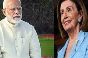 nancy pelosi applauds modi s commitment to tackle climate