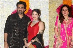 mumbai indian team spotted at mukesh ambani diwali party