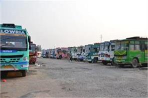 wheels of 450 buses jammu kathua route traffic jam toll plaza