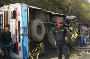 11 killed 100 injured as overcrowded bus meets accident in nepal