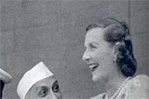 when edwina fell to the ground to see nehru